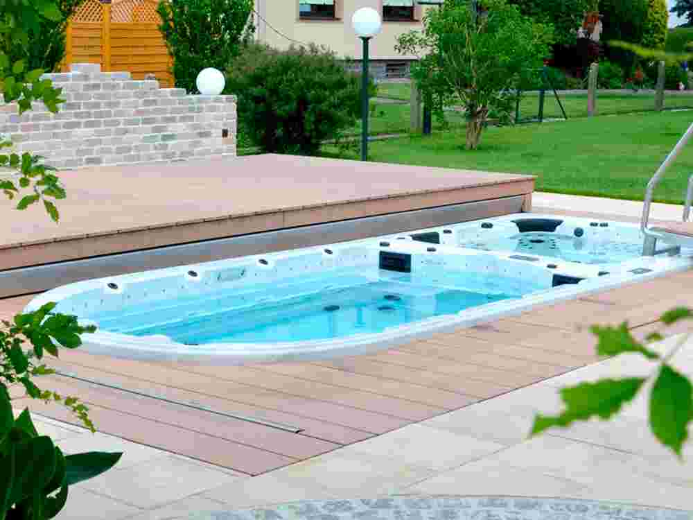 POOL LOUNGE® - Komfort-Abdecksystem für Swim Spa: ARMSTARK®